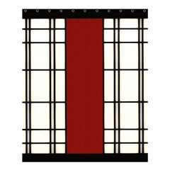 Shoji   Red Shower Curtain 60  X 72  (medium)  by RespawnLARPer