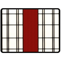 Shoji - Red Double Sided Fleece Blanket (large)  by RespawnLARPer