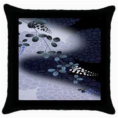 Abstract Black And Gray Tree Throw Pillow Case (black) by BangZart
