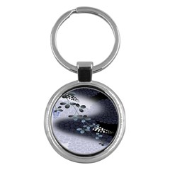 Abstract Black And Gray Tree Key Chains (round)  by BangZart