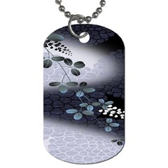 Abstract Black And Gray Tree Dog Tag (one Side) by BangZart