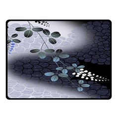 Abstract Black And Gray Tree Fleece Blanket (small) by BangZart