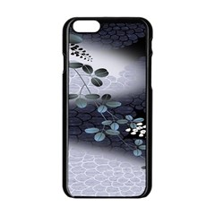 Abstract Black And Gray Tree Apple Iphone 6/6s Black Enamel Case by BangZart