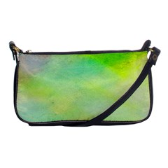 Abstract Yellow Green Oil Shoulder Clutch Bags by BangZart