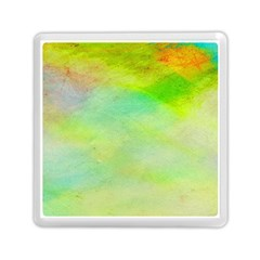 Abstract Yellow Green Oil Memory Card Reader (square)  by BangZart