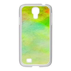 Abstract Yellow Green Oil Samsung Galaxy S4 I9500/ I9505 Case (white)