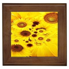 Beautiful Sunflowers Framed Tiles by BangZart