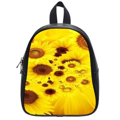 Beautiful Sunflowers School Bags (small)  by BangZart