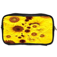 Beautiful Sunflowers Toiletries Bags 2 Side by BangZart