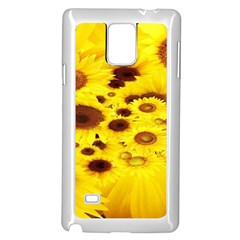 Beautiful Sunflowers Samsung Galaxy Note 4 Case (white) by BangZart