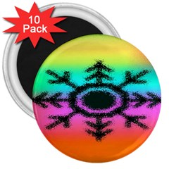 Vector Snowflake 3  Magnets (10 Pack)  by BangZart
