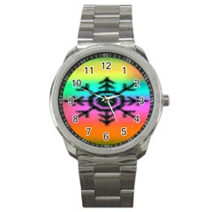 Vector Snowflake Sport Metal Watch by BangZart