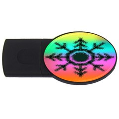 Vector Snowflake Usb Flash Drive Oval (4 Gb) by BangZart