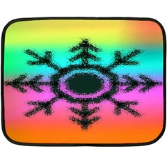 Vector Snowflake Fleece Blanket (mini) by BangZart