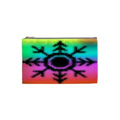 Vector Snowflake Cosmetic Bag (small)  by BangZart