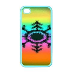 Vector Snowflake Apple Iphone 4 Case (color)
