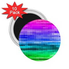 Pretty Color 2 25  Magnets (10 Pack)