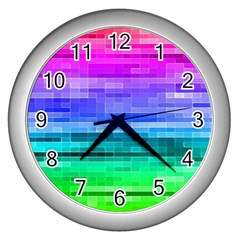 Pretty Color Wall Clocks (silver)  by BangZart