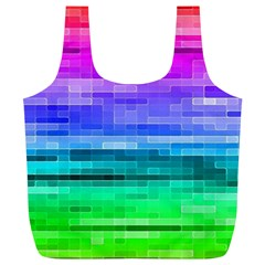 Pretty Color Full Print Recycle Bags (l)  by BangZart