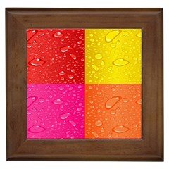 Color Abstract Drops Framed Tiles by BangZart