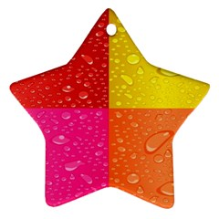 Color Abstract Drops Ornament (star) by BangZart