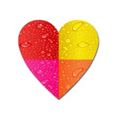 Color Abstract Drops Heart Magnet by BangZart