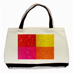 Color Abstract Drops Basic Tote Bag by BangZart