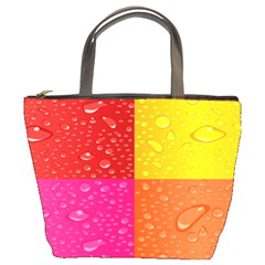 Color Abstract Drops Bucket Bags by BangZart