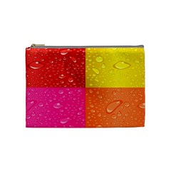 Color Abstract Drops Cosmetic Bag (medium)  by BangZart