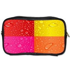 Color Abstract Drops Toiletries Bags by BangZart