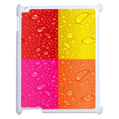 Color Abstract Drops Apple Ipad 2 Case (white) by BangZart