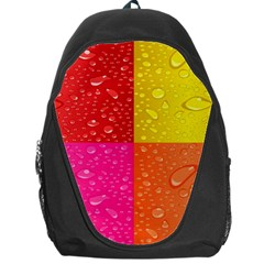 Color Abstract Drops Backpack Bag by BangZart
