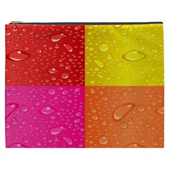 Color Abstract Drops Cosmetic Bag (xxxl)  by BangZart