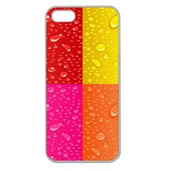 Color Abstract Drops Apple Seamless Iphone 5 Case (clear) by BangZart