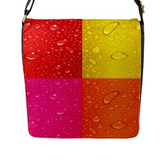 Color Abstract Drops Flap Messenger Bag (l)