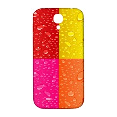 Color Abstract Drops Samsung Galaxy S4 I9500/i9505  Hardshell Back Case by BangZart
