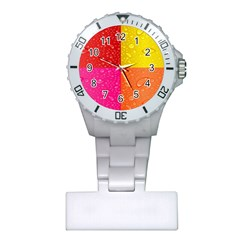 Color Abstract Drops Plastic Nurses Watch by BangZart