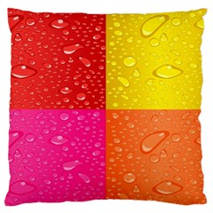 Color Abstract Drops Large Flano Cushion Case (one Side) by BangZart