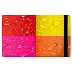 Color Abstract Drops Apple Ipad Pro 9 7   Flip Case