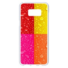 Color Abstract Drops Samsung Galaxy S8 Plus White Seamless Case