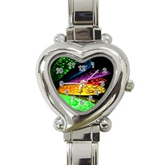 Abstract Flower Heart Italian Charm Watch by BangZart