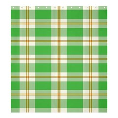 Abstract Green Plaid Shower Curtain 66  X 72  (large)  by BangZart
