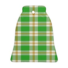 Abstract Green Plaid Bell Ornament (two Sides) by BangZart