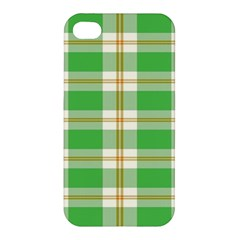 Abstract Green Plaid Apple Iphone 4/4s Premium Hardshell Case by BangZart