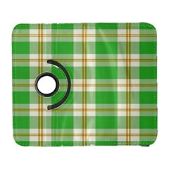 Abstract Green Plaid Galaxy S3 (flip/folio) by BangZart