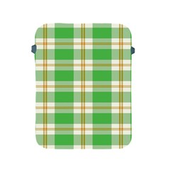 Abstract Green Plaid Apple Ipad 2/3/4 Protective Soft Cases by BangZart
