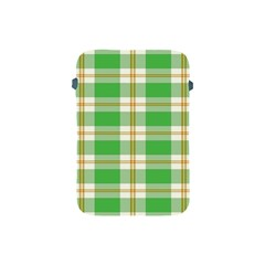 Abstract Green Plaid Apple Ipad Mini Protective Soft Cases by BangZart