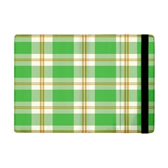 Abstract Green Plaid Ipad Mini 2 Flip Cases by BangZart