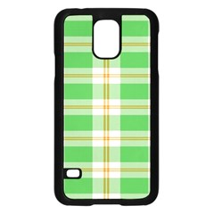 Abstract Green Plaid Samsung Galaxy S5 Case (black) by BangZart