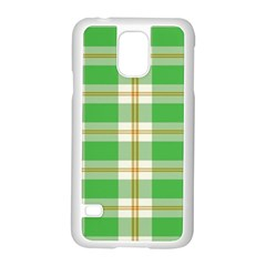 Abstract Green Plaid Samsung Galaxy S5 Case (white) by BangZart